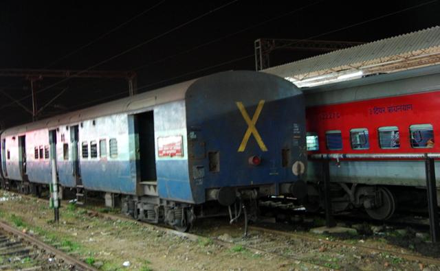 よく遅れるインドの列車