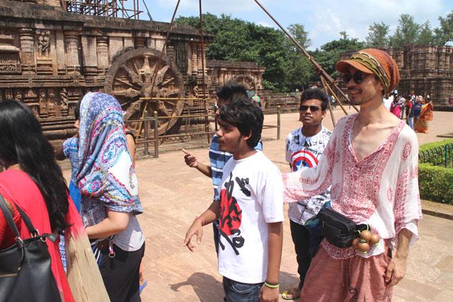 インドの世界遺産、スーリャ寺院で