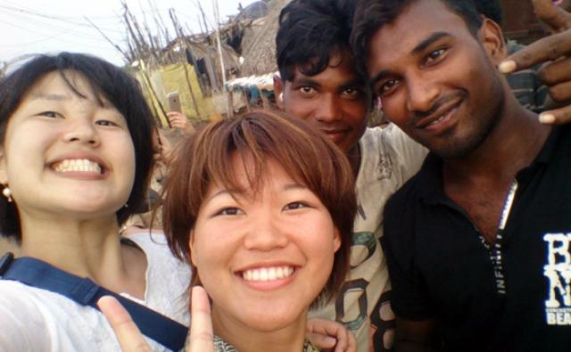 出会ったインド人と記念撮影