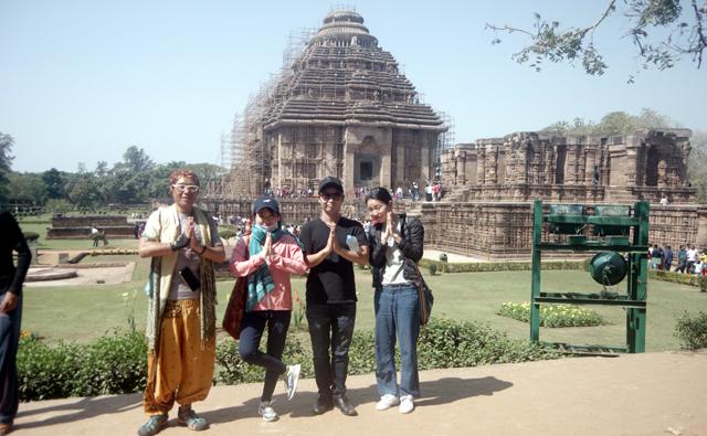 世界遺産に登録されている太陽寺院(スーリヤ・寺院)