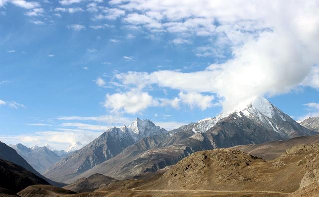 山脈の写真です。