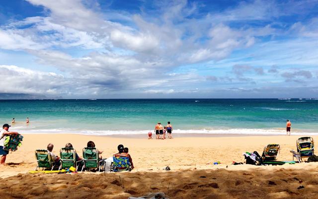 インドヨガ留学参加前のハワイ、マウイ島での一枚。