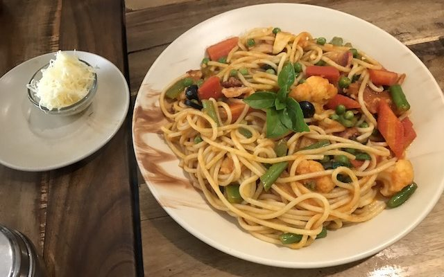 Vegetable Spaghetti(220Rs)