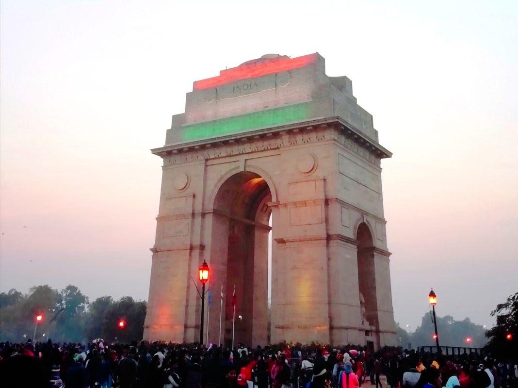 インド門ライトアップ