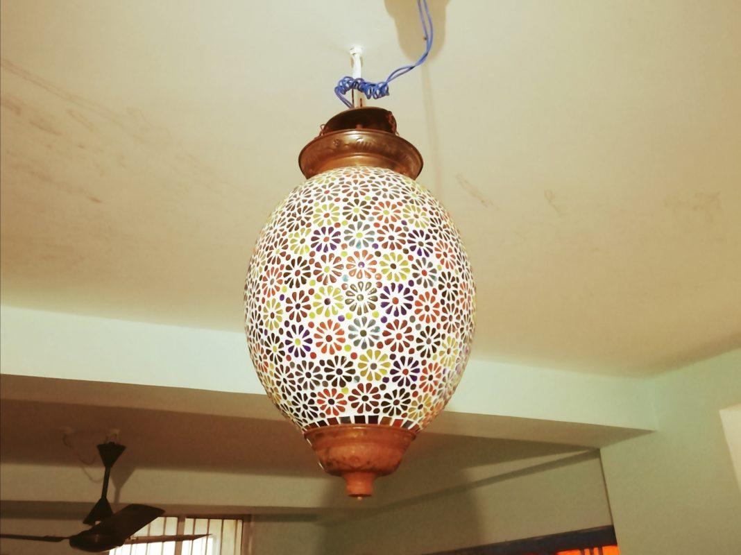 花柄ランプ(雫型)