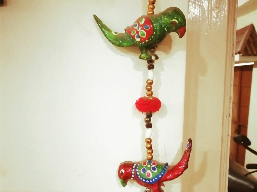 小鳥の吊るし飾り