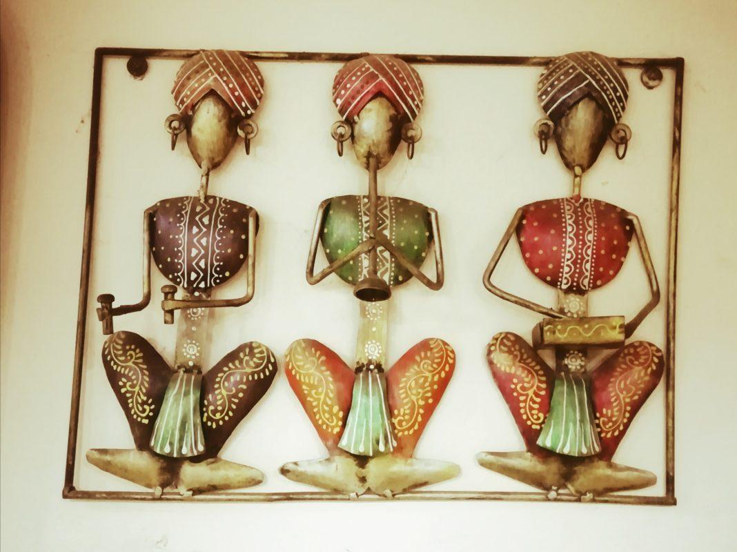 インド人演奏家の飾り