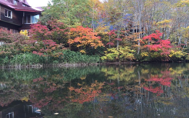 秋は紅葉もきれい