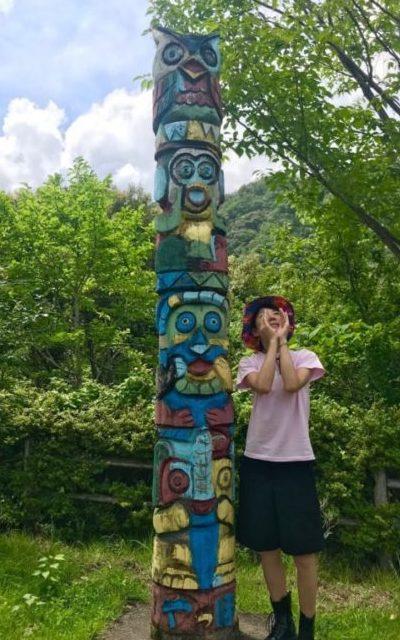 和歌山の山でヤッホーポイントで叫ぶりさりさ