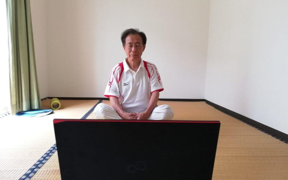 オンラインレッスン中に瞑想をする