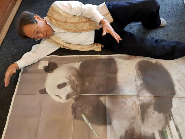 孫にパンダの画像を送る親父